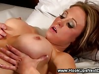 Busty hot babe gets her pussy licked